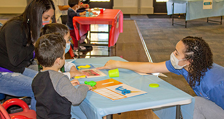 Think Tank on Tuesdays & Saturdays. Dive in for some hands-on activities with your child!