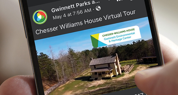 Visit one of Gwinnett's parks virtually! Nature trips, historic visits, and dino discoveries are just a click away.