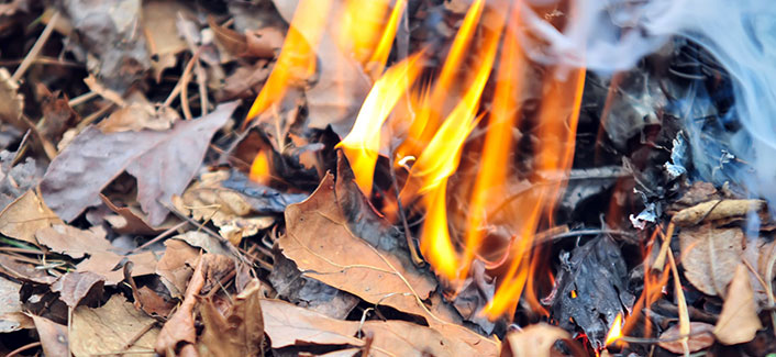 Outdoor burn ban in effect from May 1 through September 30
